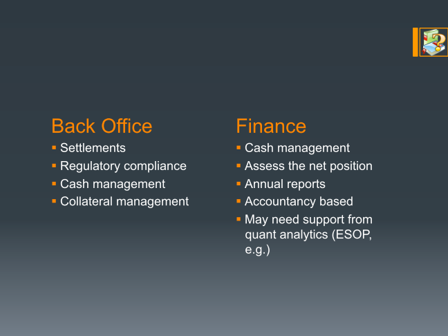 Back Office and Finance