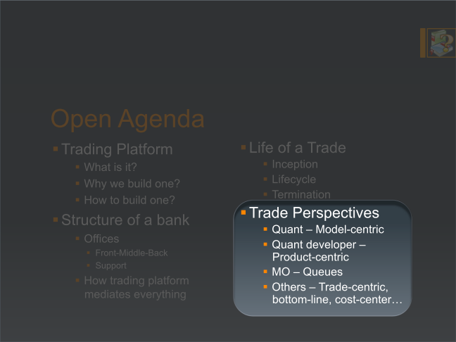 Trade perspectives